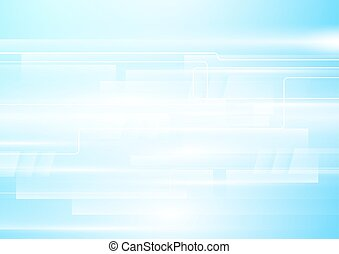 Abstract white geometric in soft blue background