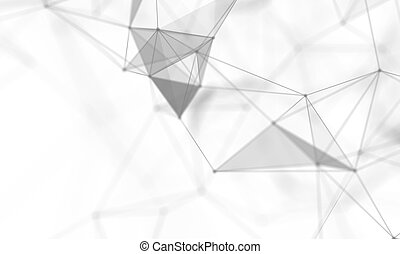 Abstract White Geometrical Background . Connection structure...