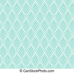 Abstract White Lace seamless pattern on blue