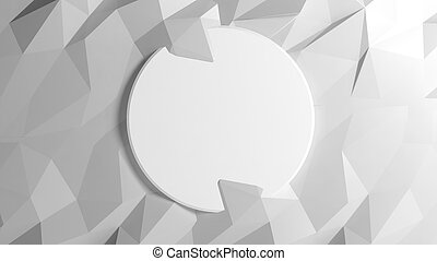 Abstract white low poly background with copy-space