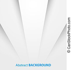 Abstract white paper background with shadow.