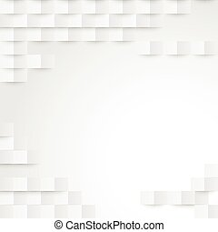 Abstract white paper geometric background
