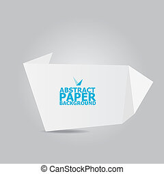 Abstract white paper origami background