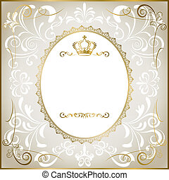 Abstract white romantic frame. Illustration vector.