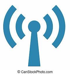 Abstract Wi-fi antenna. - Abstract Wi-fi antenna on white...