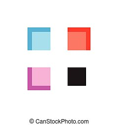 abstract windows colorful logo vector