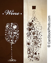 Abstract wine bottle - Abstract picture of wine bottle and ...