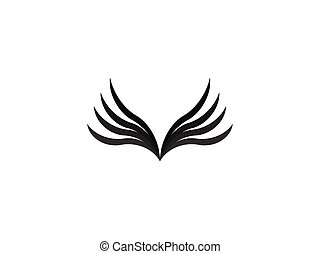 abstract wing logo design template vector illustration