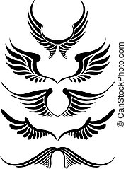 abstract wing set, vector