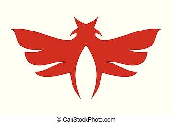 abstract wings bird logo