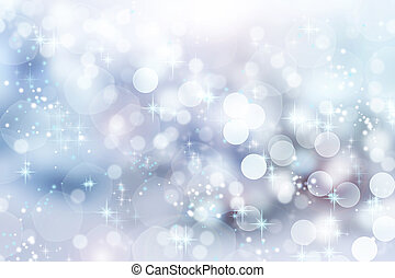 abstract, winter, achtergrond., kerstmis, abstract, bokeh