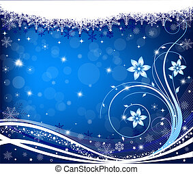 abstract, winter, achtergrond, vector