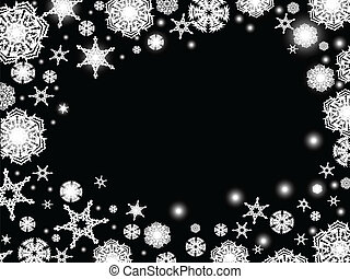 Abstract winter background in black