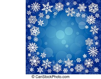 Abstract winter background in blue