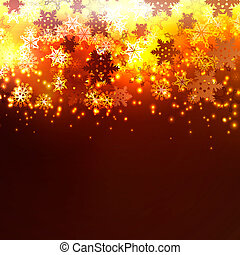 Snowflakes on a dark background