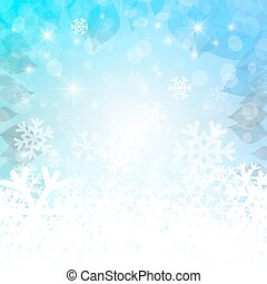 Abstract Winter Background. Vector Christmas Empty Backdrop for Designs. White and Blue Wallpaper.