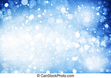 Abstract winter backgrounds with beauty bokeh