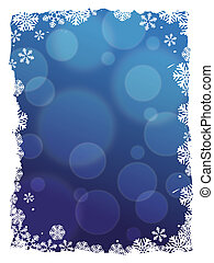 abstract winter border background - abstract blue winter...