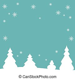 Abstract Winter Christmas Background-vector illustration