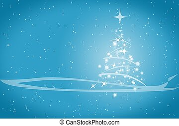 Abstract winter christmas blue background