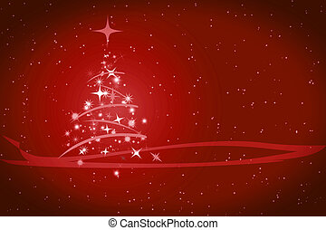 Abstract winter christmas red background