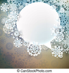 Abstract winter design with snowflakes. EPS 10
