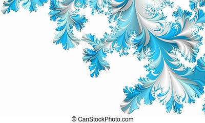 Abstract winter fractal background