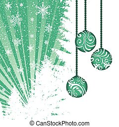 Abstract winter green Christmas background