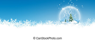 Abstract Winter Panorama Background with Azure Blue Sky - ...
