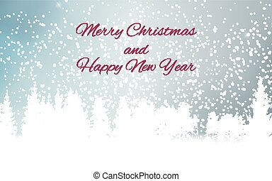 Abstract Winter Snow New Year and Merry Christmas Natural Background. Vector Illustration