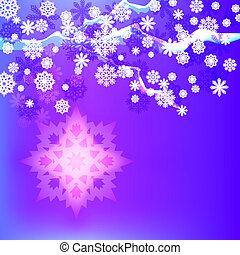 Abstract winter vector background with snowflakes.