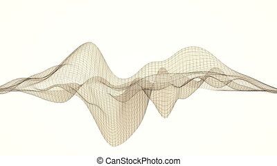 Abstract wireframe / lines. - Abstract wireframe / lines...