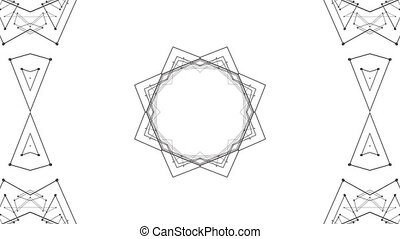 Abstract wireframe looped background. 3d seamless animation...