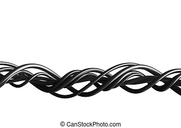 Abstract wires isolated on white
