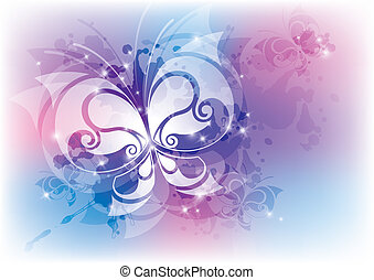 abstract with butterfly