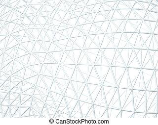 abstract, witte achtergrond, met, 3d, latwerk