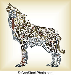 Abstract Wolf - Illustration of abstract design wolf.