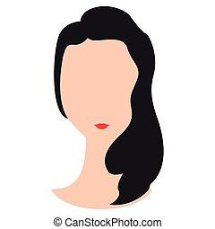 Abstract woman avatar image vector illustration design