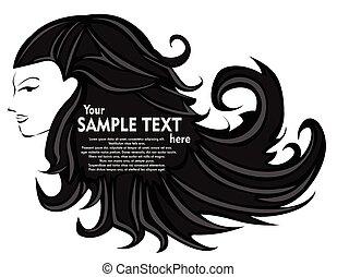Abstract woman hair