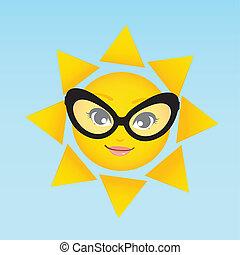 woman sun