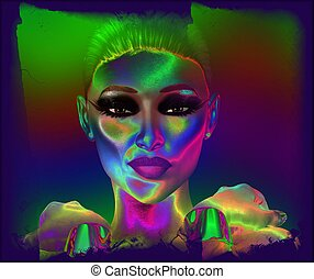 Abstract, woman's face