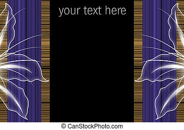 Abstract wonderful stripe background with blossoms and space for your text