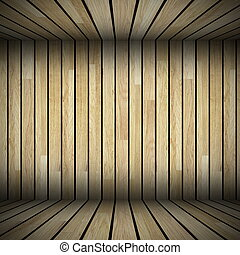 abstract wooden structure view