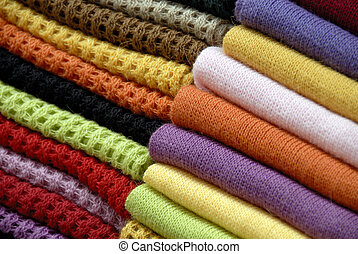 A Close Up Abstract Shot of Folded Woollens