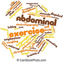 Abdominal exercise - Abstract word cloud for Abdominal...