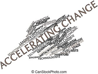 Abstract word cloud for Accelerating change with related tags and terms
