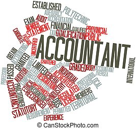 Accountant - Abstract word cloud for Accountant with related...