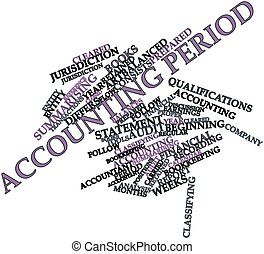 Accounting period - Abstract word cloud for Accounting...