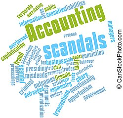Accounting scandals - Abstract word cloud for Accounting...