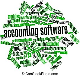 Abstract word cloud for Accounting software with related tags and terms